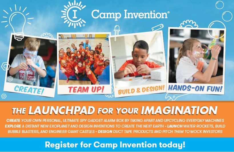 4th   5th grade Summer Camp Invention