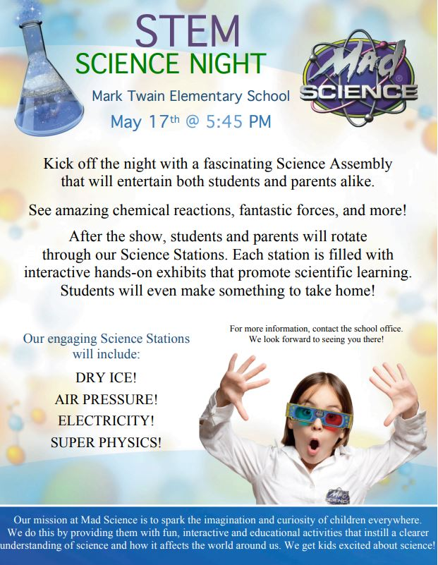 MAD Science Flyer